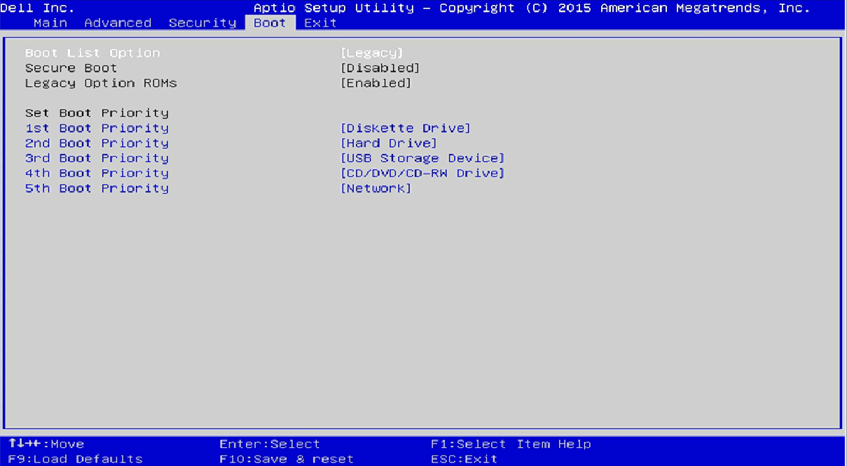 Solved: Desktop, Inspiron 3252, Windows 10, how do I boot from USB