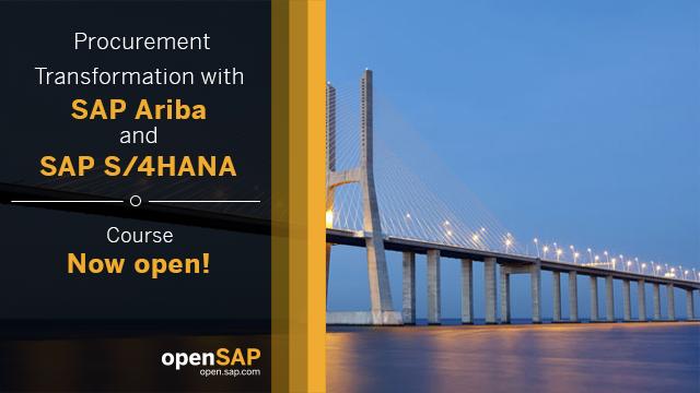 Procurement Transformation with SAP Ariba and SAP S/4HANA (Repeat)