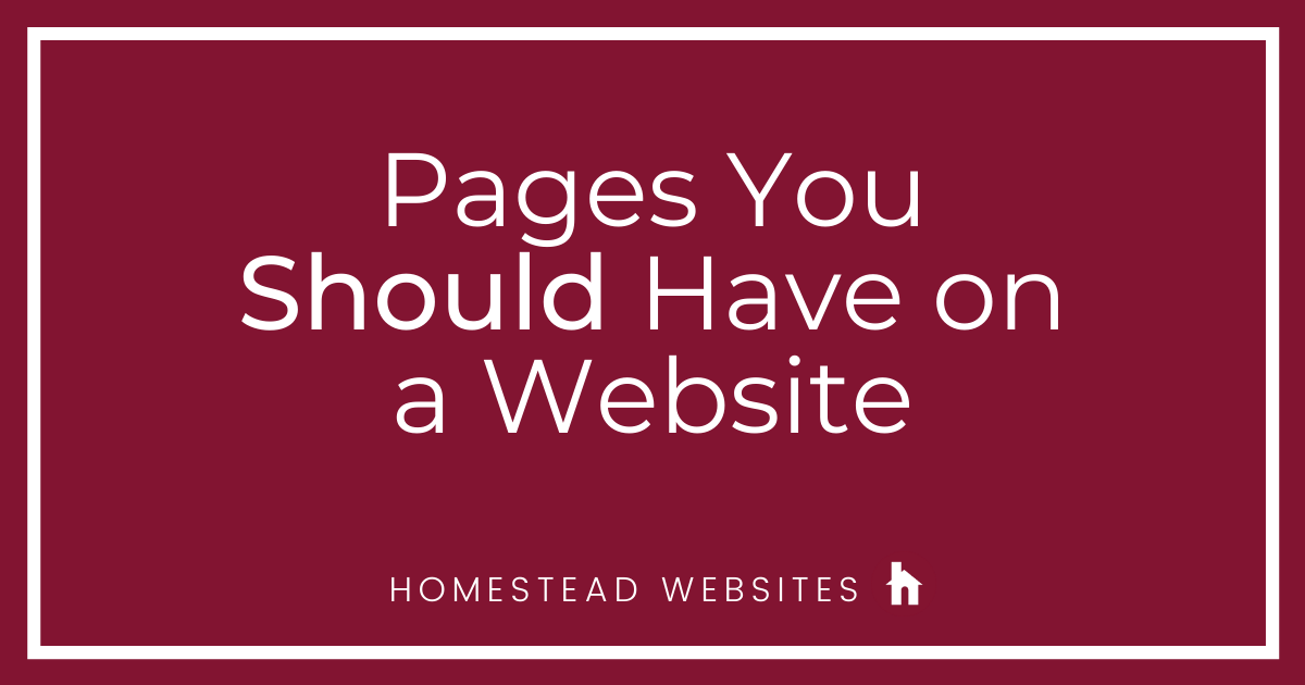 Pages You Should Have on a Website
