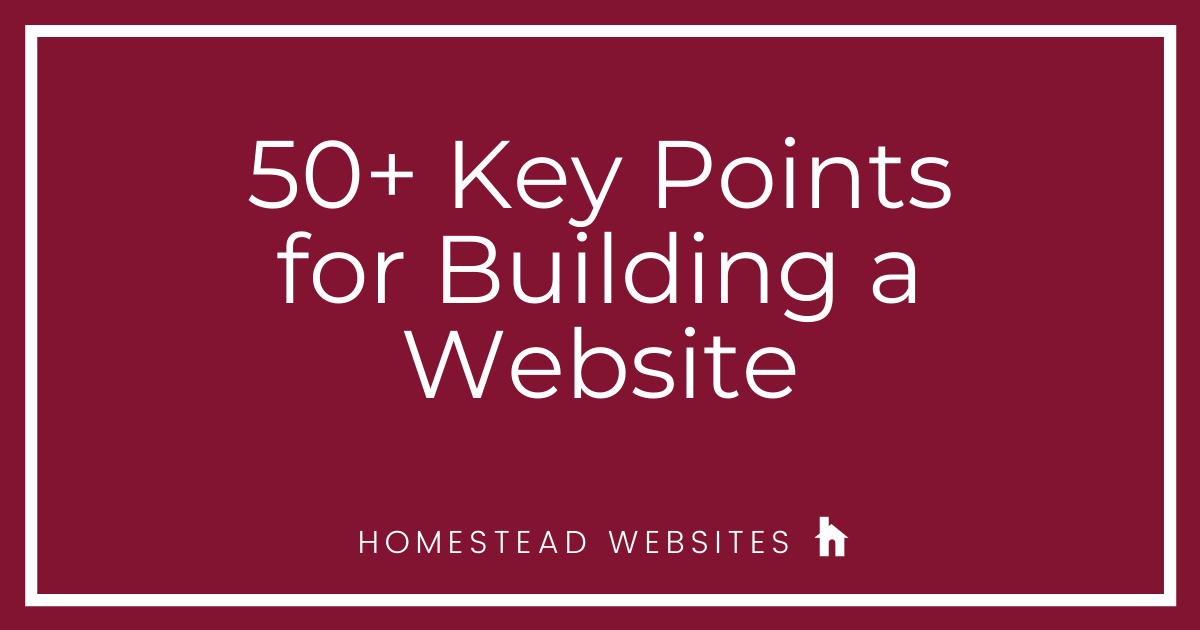 50+ Key Points for Building a Website