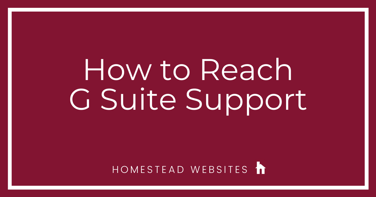 How to Reach G Suite Support
