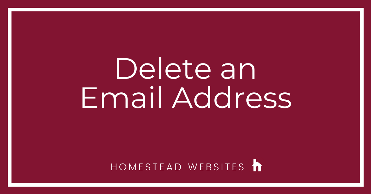 Delete an Email Address