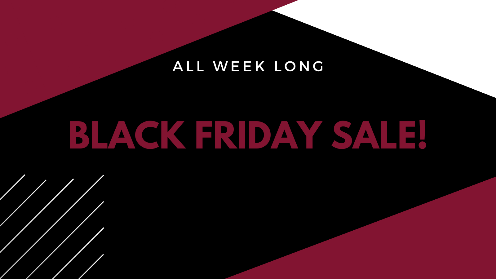 Black Friday Sale- EXTENDED