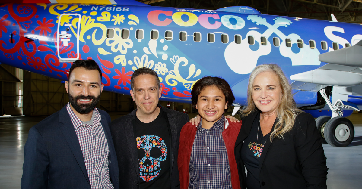 Southwest Airlines Revealed a Coco-Themed Plane