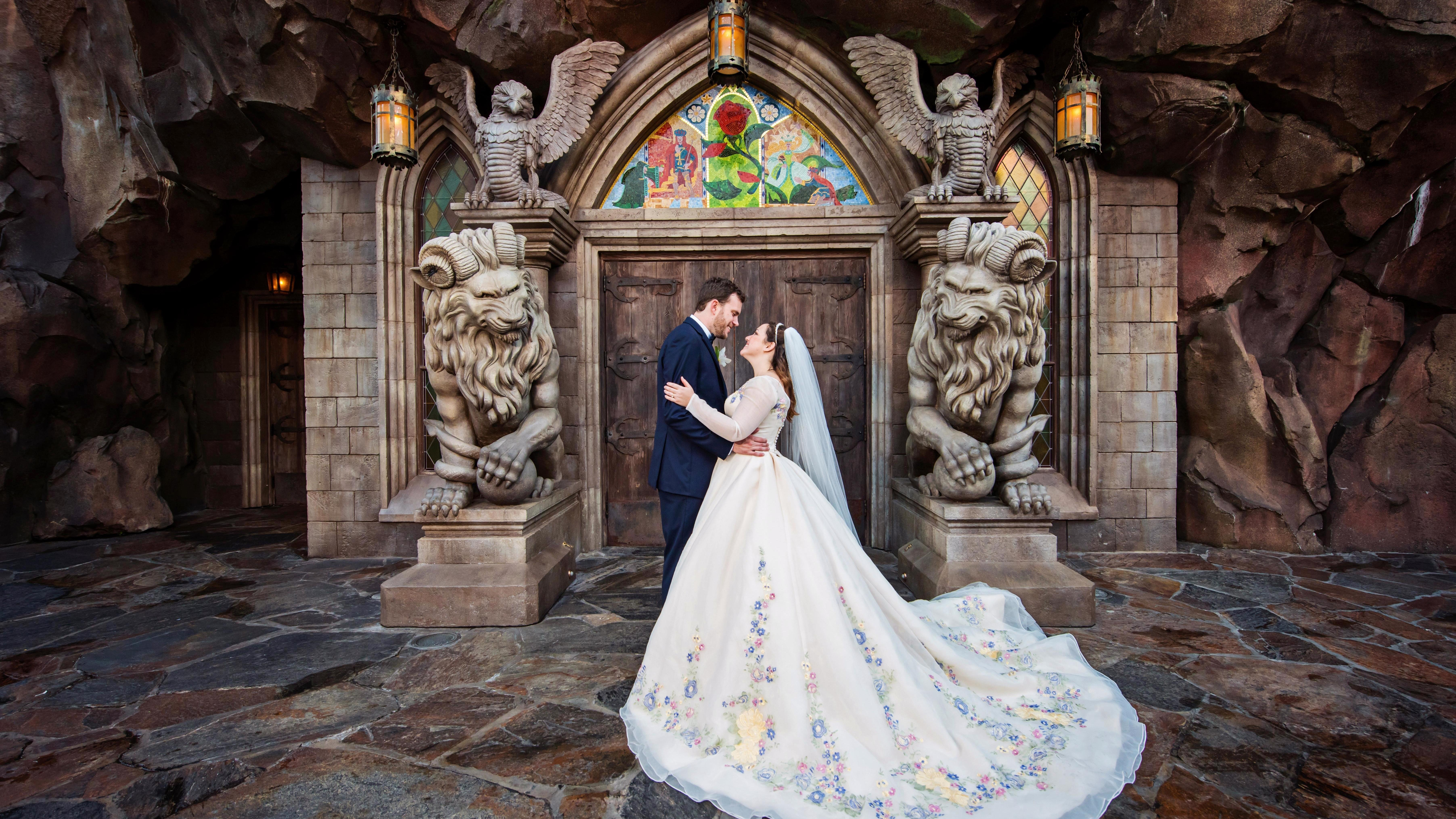 You Have to See This Magical Disney's Fairy Tale Wedding Portrait Session