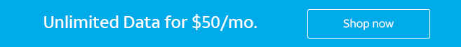 Unlimited Data for $50/mo.  Shop now