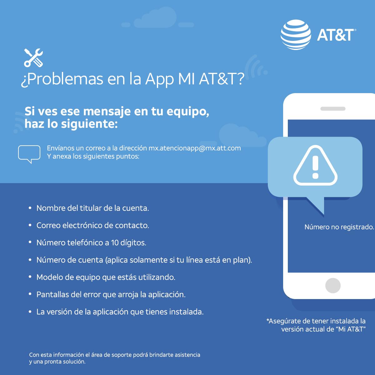 ¿Tienes inconveniente con la APP MI AT&T?