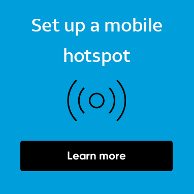 Set up a mobile hotspot. Learn more