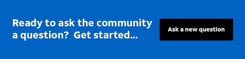 Ready to ask the community a question?  Get started...