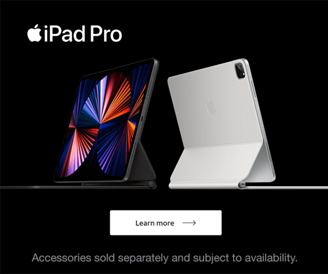 iPad Pro - Accessories sold seperately and subject to availability. Learn more