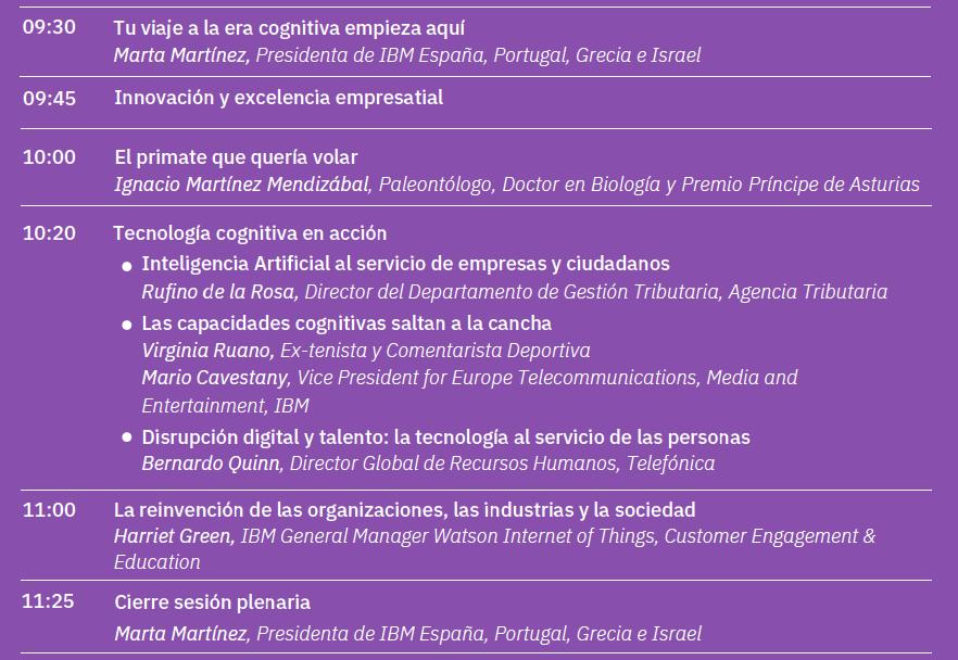 Agenda Plenaria
